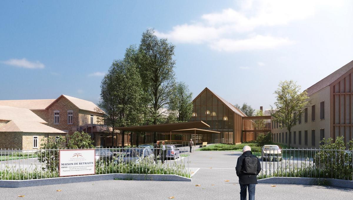 Perspective architecture projet EHPAD Tournan-en-Brie