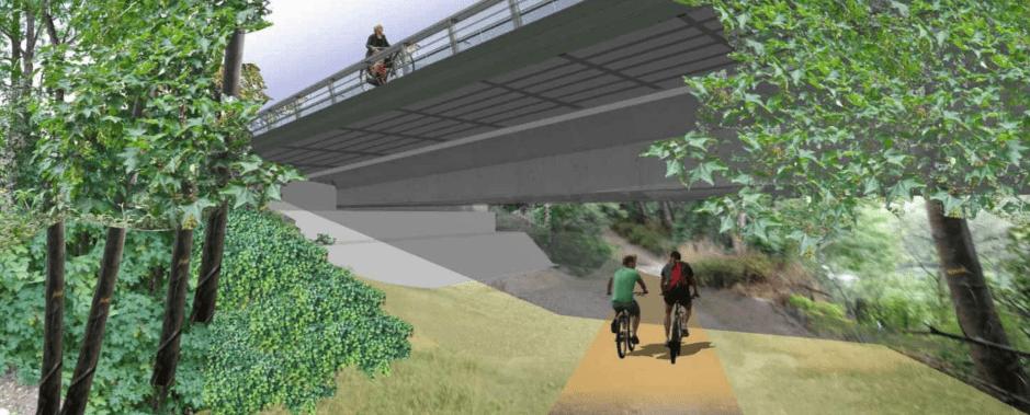 Perspective du projet d'aménagement du pont de Valvins
