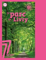 Couverture de la publication sur l'ENS Parc de Livry
