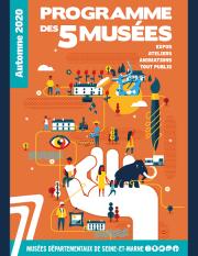 Couverture programme des 5 musées automne 2020