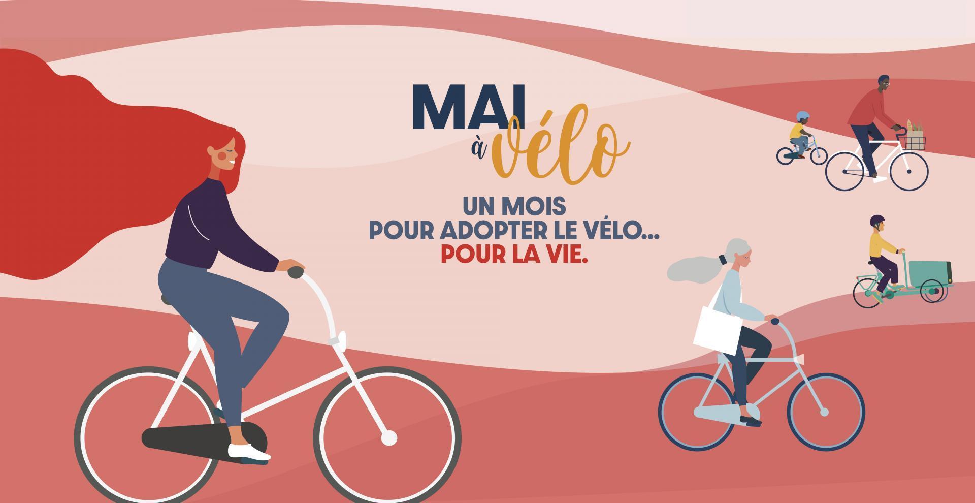 Affiche de l'évènement Mai à Vélo 2021