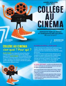 Couverture du dépliant collège au cinéma