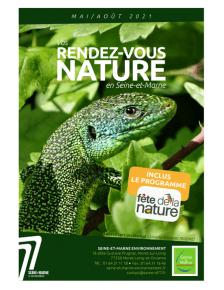 Affiche des rendez-vous nature en Seine-et-Marne