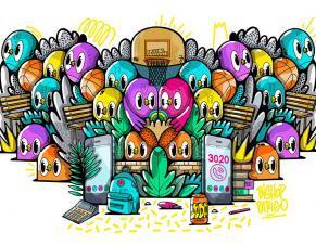 L'illustration street art de Bishop Parigo pour la campagne contre le harcèlement scolaire