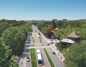 Perspective projet Bus Bords de Marne IDFM
