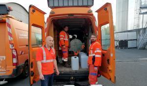 Distribution de gel hydroalcoolique