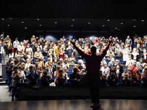 Séance d'applaudissements au théâtre de Chelles