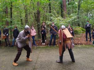 Combats au Musée de Préhistoire d'Ile-de-France