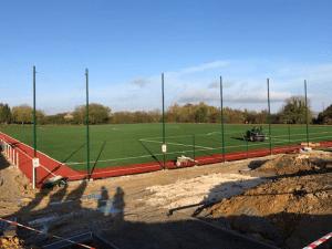 Automne 2020 - avancée des travaux de construction du terrain de football