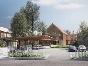 Perspective architecte de l'extérieur de l'EHPAD à Tournan-en-Brie