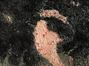Détail d'un tableau de Frédéric Couraillon
