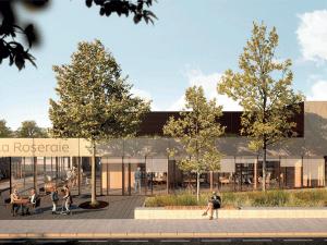 perspective du projet de construction d'une médiathèque à Bois-le-Roi