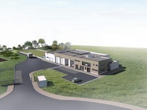 Vue perspective du projet de construction de l'usine de traitement d'eau potable à Coulommiers