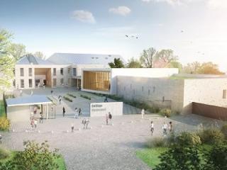 Collège Denecourt Bois-le-Roi, perspective extérieure