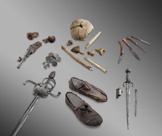 Squelettes et vestiges historiques