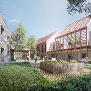Perspective architecte de l'EHPAD à Tournan-en-Brie