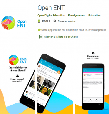 application Open ENT