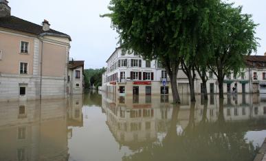 Inondation au sein d'une commune
