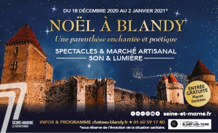 Affiche de Noël à Blandy 2020