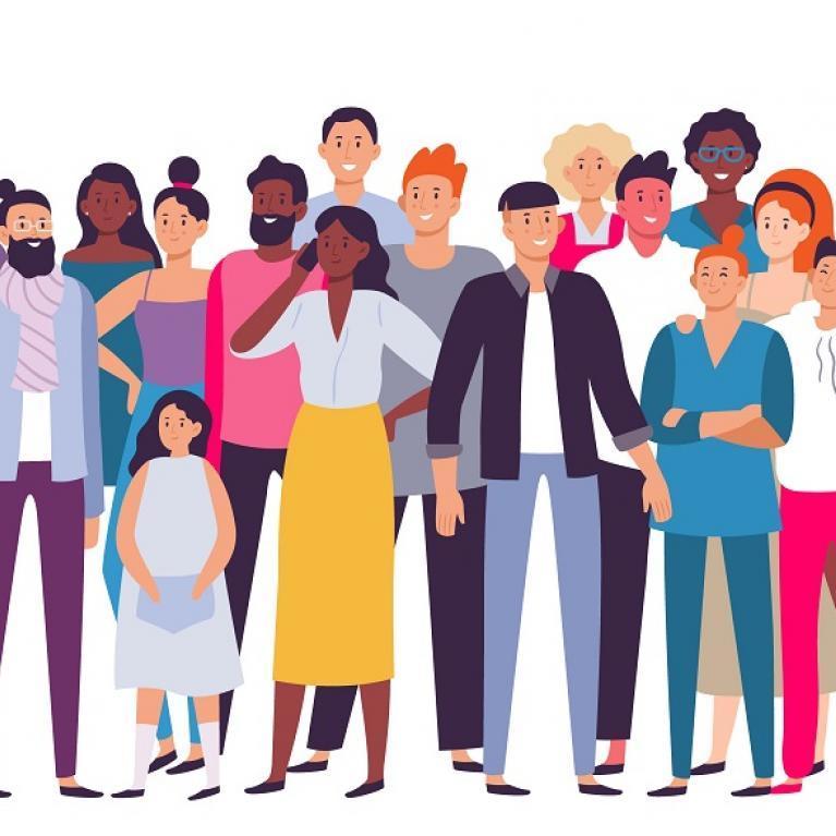 Illustration d'un groupe de personnes