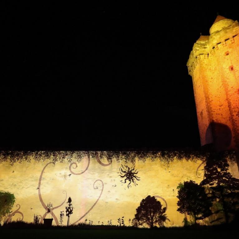 Spectacle son et lumière sur les remparts du château Blandy-les-Tours