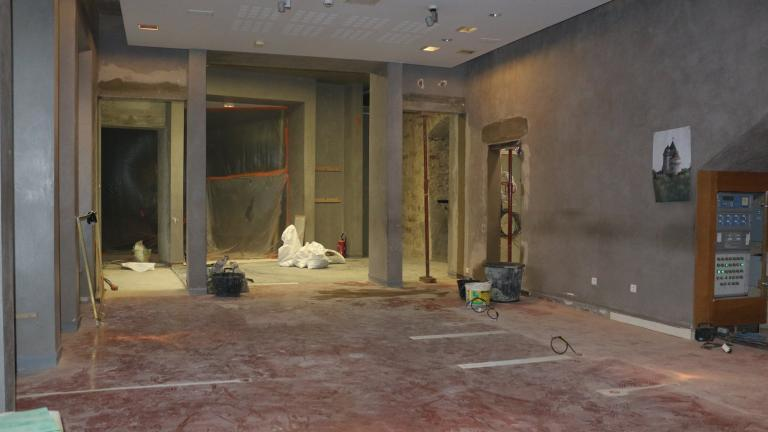 travaux de l'espace accueil-boutique